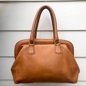 Fendi Brown Selleria Leather Doctor Handbag Tote